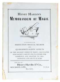 Henry Hardin's Memorandum of Magic