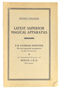 F. W. Conradi-Horster Export Catalogue