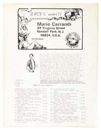 Mario Carrandi Catalog Winter '77