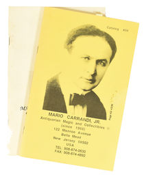 Mario Carrandi Catalog No. 34 & No. 35