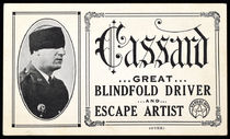 The Great Blindfold Driver and Escape Artist Advert