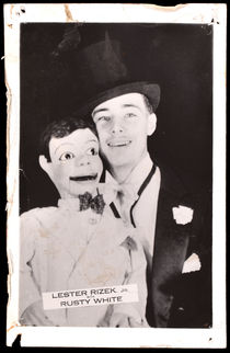 Lester Rizek and Rusty White Postcard