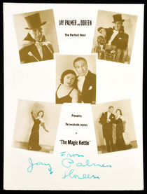 Jay Palmer and Doreen Postcard, Signed