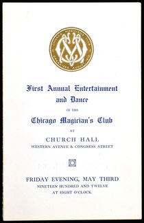 First Annual Entertainment and Dance Chicago Magician's Club Program