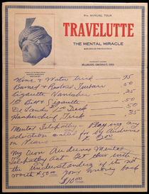 Two Travelutte Letterheads with Purchase Lists