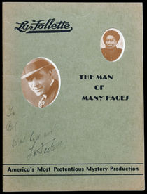 LaFollette Program and Advertisement