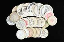 Collection of 24 Wooden Nickels