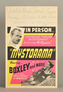 "Boxley and Marie ""Mystorama"" Window Card"