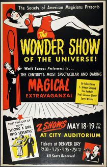 The Wonder Show of the Universe Window Card