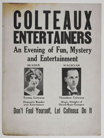 Colteaux Entertainers Window Card