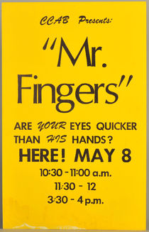 Mr. Fingers Window Card
