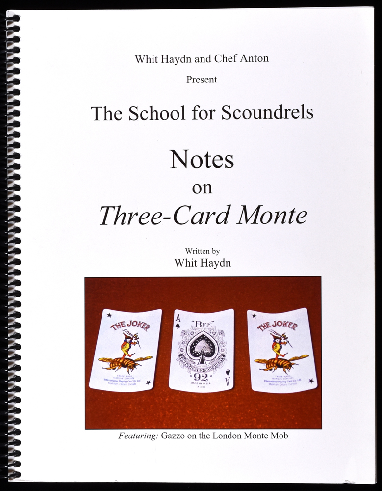 Image result for Whit Haydn - Notes On Three-Card Monte