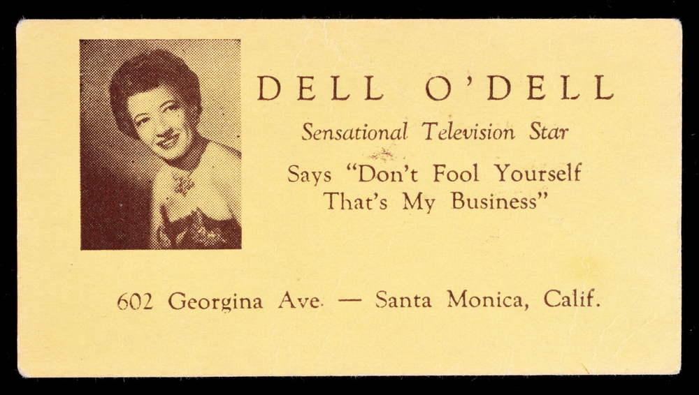 Dell O\'Dell Puzzle Piece Business Card - Quicker than the Eye