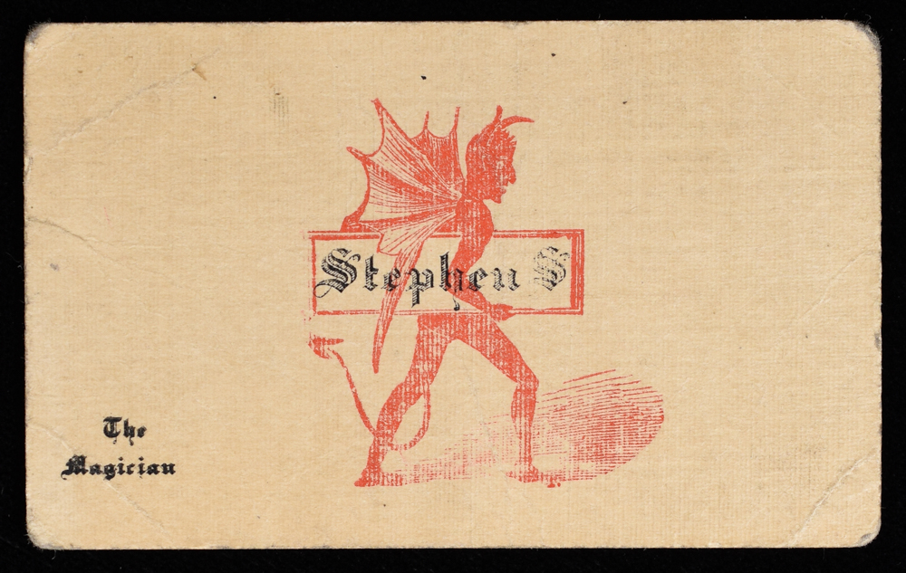 Stephen S. The Magician Business Card - Quicker than the Eye