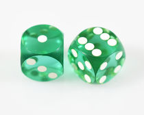 "Vintage Crooked Dice, 3-Face ""Tops"" (5/8)"