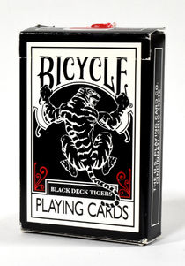 Black Deck Tiger Playing Cards