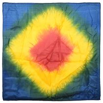 Pair of Primary Color Tie-Dye Silks