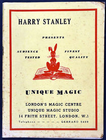 Harry Stanley Presents Unique Magic Catalogue