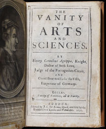 The Vanity of Arts and Sciences