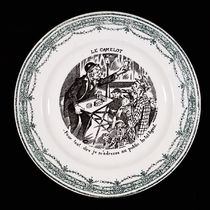 Decorative Transfer Plate: Magician's Routine