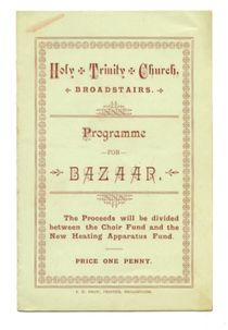 English Church Bazaar Program