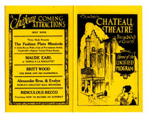 Blackstone Chateau Theatre Program