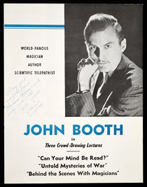 John Booth Program, Signed and Inscribed