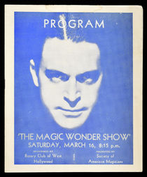 The Magic Wonder Show Program, Featuring Dante