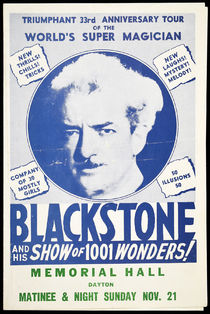 Blackstone and His Show of 1001 Wonders Program