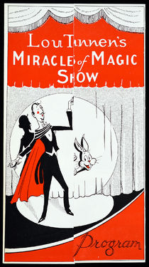 Lou Tannen's Miracles of Magic Show Program