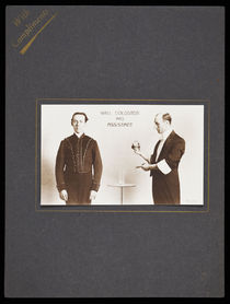 Will Goldston and Assistant Photograph Postcard