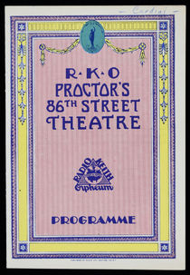 Cardini, R.K.O. Proctor's 86th Street Theatre Program