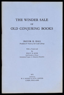 The Winder Sale of Old Conjuring Books