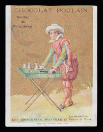 Large Chocolat Poulain Trade Card (Cups and Balls)