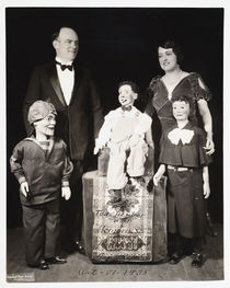 John Ellwood and Ada Ripel Portrait with Ventriloquist Dolls