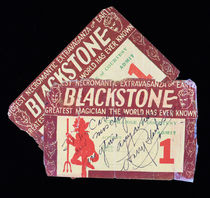 Pair of Blackstone Show Passes (Signed)