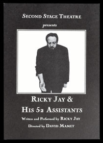 Ricky Jay & His 52 Assistants Show Postcards