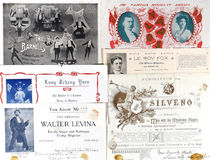 Group of Entertainers' Letterheads