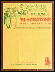 Blackstone Big Combination Show Letterhead