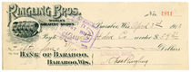 Charles Ringling Signed Check