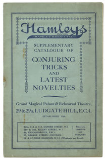 Hamleys Supplementary Catalogue of Conjuring Tricks and Latest Novelties