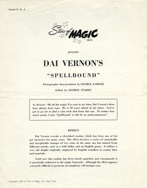 "Stars of Magic Presents Dai Vernon's ""Spellbound"""