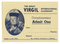 The Great Virgil Complimentary Ticket