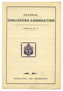 National Conjurers Association Application for Membership