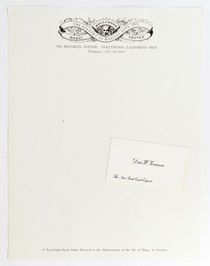 Dai Vernon Business Card and Magic Castle Letterhead