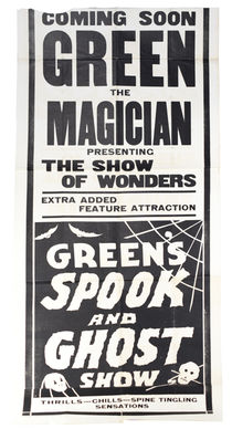 Green's Spook and Ghost Show Advertisement