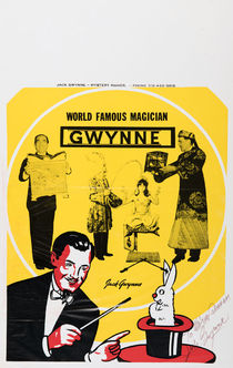 World Famous Magician Gwynne Signed Poster