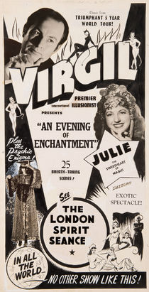 Virgil, an Evening of Enchantment Original Poster Artwork