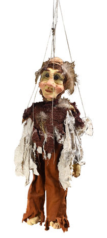Walnut Hat Marionette