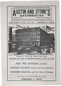 Program for Austin and Stone's Museum